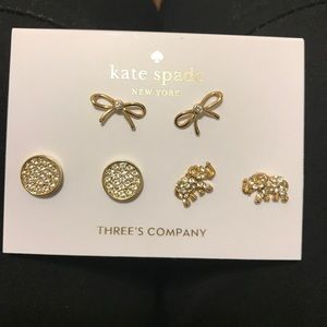 New Kate Spade earring trio